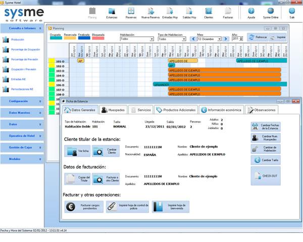 Software de gestión hotelera Sysme Hotel 4.14