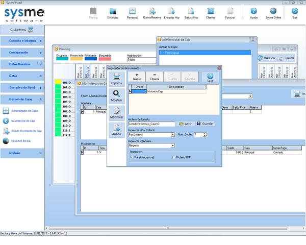 Software PMS de gestión hotelera Sysme Hotel 4.16