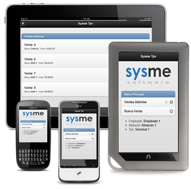 Sysme Tpv para moviles,tablets y pdas