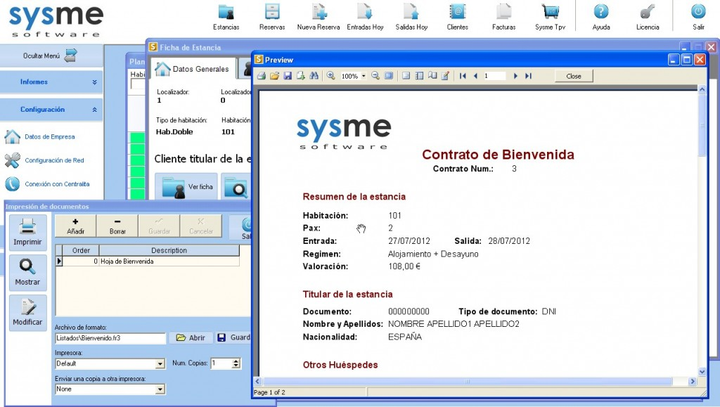 Software Pms Sysme Hotel 4.28