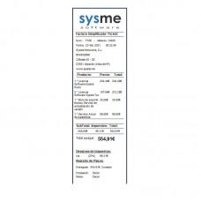 Formato de Ticket 58mm en Español