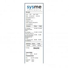 Formato de Ticket 58mm en Inglés