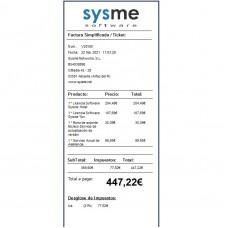 Formato de Ticket 80mm en Español