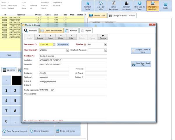 Software Sysme Tpv, versión 4.03