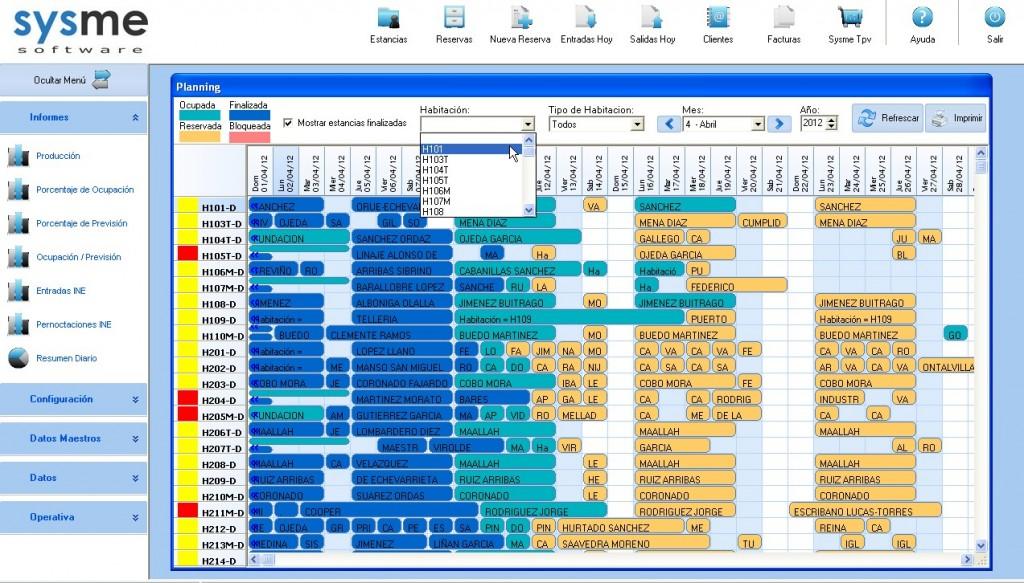 software pms de gestión hotelera sysme hotel