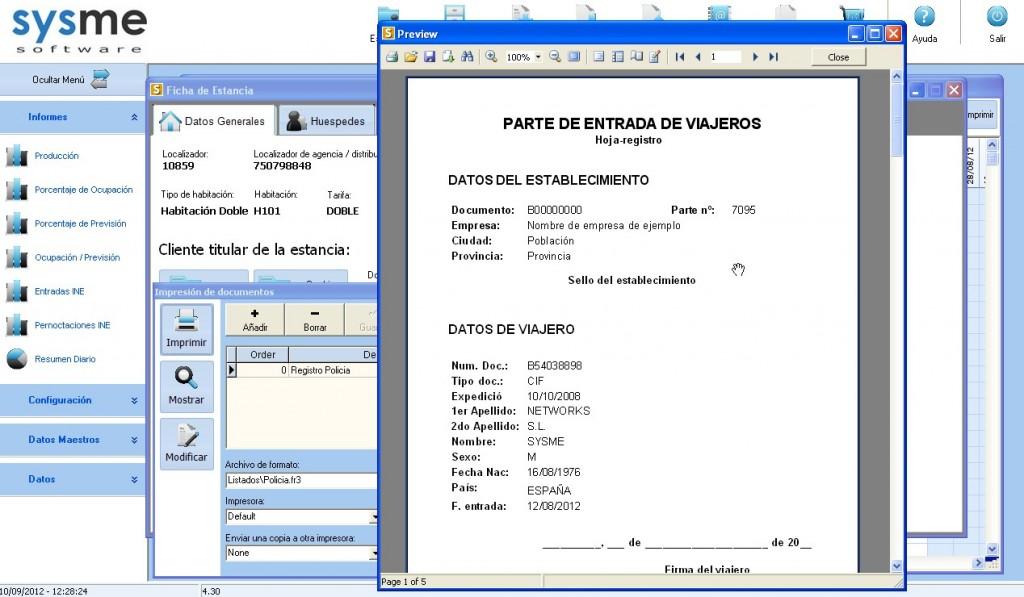 Software Pms de gestión hotelera Sysme Hotel 4.30